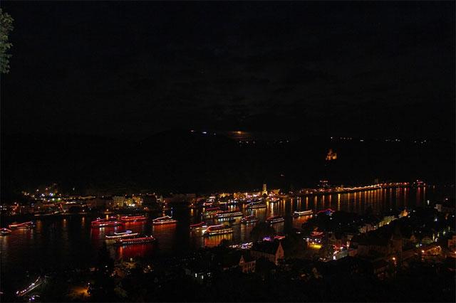 Rhein in Flammen bei St. Goar am Mittelrhein
